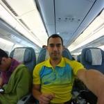 in the aeroplane
