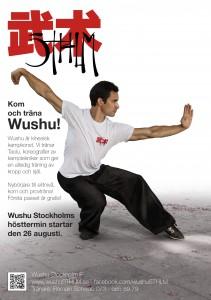 Terminstart affisch Wushu Stockholm IF