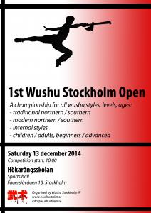1st Wushu Stockholm Open