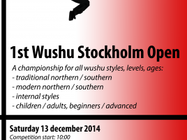 1st Wushu Stockholm Open